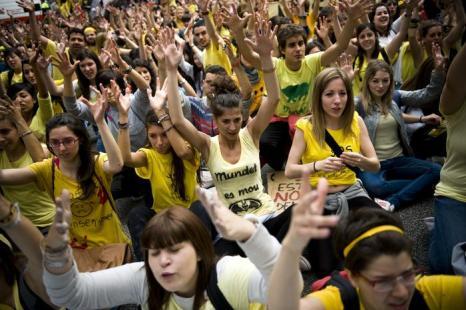 Акция протеста против сокращения финансирования  образования состоялась в Барселоне. Фоторепортаж. Фото: David Ramos/Getty Images