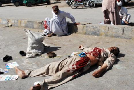 Теракт в пакистанском городе Кветта унес жизни 65 человек. Фоторепортаж. Фото: BANARAS KHAN/AFP/Getty Images