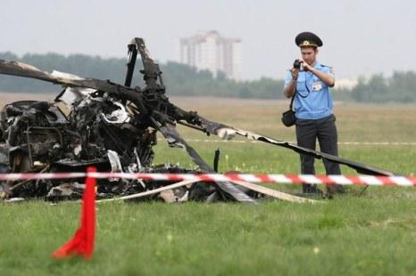 В Минске разбился вертолет: погиб пилот из Германии. Фоторепортаж. Фото: ALEXEY GROMOV/AFP/Getty Images