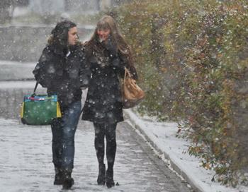 Снегопад. Фото РИА Новости
