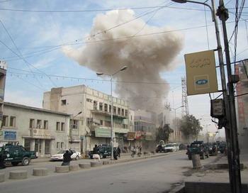 В Афганистане талибы-смертники напали на банк: есть жертвы. Фото: Pajhwok Afghan News/AFP/Getty Images