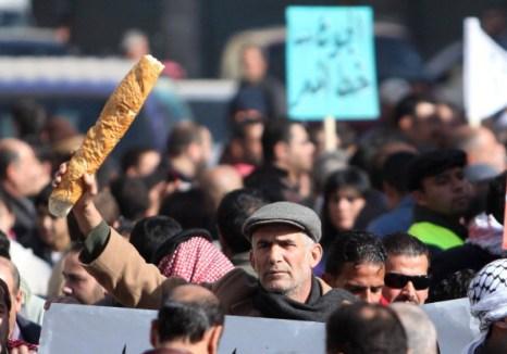 Обстановка в Иордании: Тунис экспортирует революцию. Фоторепортаж. Фото: KHALIL MAZRAAWI/AFP/Getty Images
