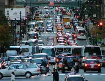 Транспортная пробка в Нью-Йорке. Фото с сайта wirednewyork.com