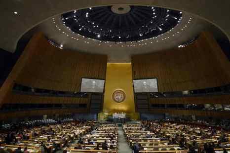 Генеральная Ассамблея ООН приняла 13 июня резолюцию по поводу беженцев из Абхазии и Южной Осетии. Фото: TIMOTHY A. CLARY/AFP/GettyImages