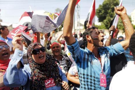 Около 17 миллионов человек вышли на площади Египта 30 июня 2013 года, требуют свержения президента Мухаммеда Мурси. Фото: MAHMUD KHALED/AFP/Getty Images