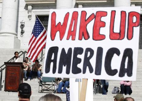 Митинг в пользу запрета на оружие прошёл в США. Фото: George Frey/Getty Images