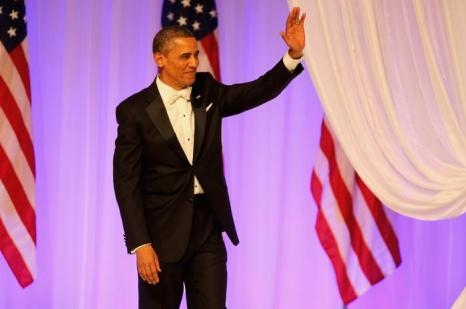 Президент США Барак Обама на инаугурационном балу в Вашингтоне, 22 января 2013 года. Фото: Joe Raedle / Getty Images