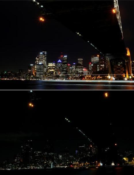 В столице Австралии Сиднее прошёл Час Земли. Фото: Lisa Maree Williams/Getty Images