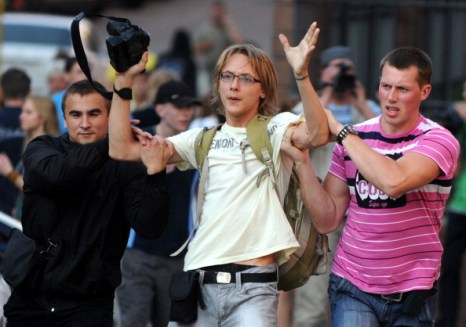 В Белоруссии прошла акция молчаливого протеста. Фото: VIKTOR DRACHEV/AFP/Getty Images