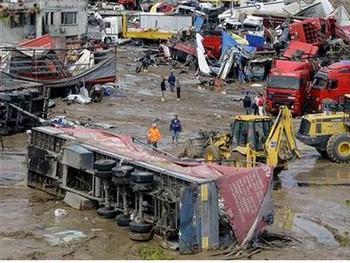 Последствия наводнения в Таиланде. Фото с profi-forex.org