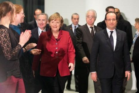 Германия и Франция отмечают 50-летие заключения Елисейского договора. Фото:  KAY NIETFELD/AFP/Getty Images