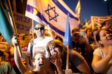 Социальные протесты в Тель-Авиве 14 июля 2012 г. Фото: Uriel Sinai/Getty Images