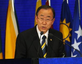 Генеральный секретарь ООН Пан Ги Мун. Фото:  ANTONIO SCORZA/AFP/GettyImages