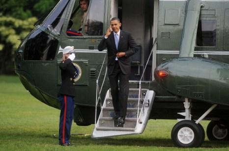 Фоторепортаж об отлете президента США Барака Обамы из Вашингтона. Фото: JIM WATSON/AFP/Getty Images