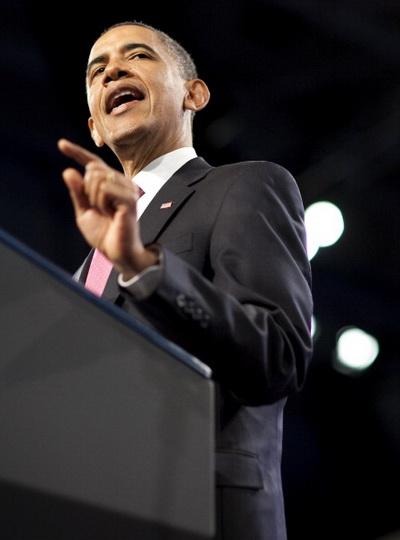 Фоторепортаж о выступлении президента США Барака Обамы на AIPAC по вопросу американо-израильских отношений. Фото: Joshua Roberts/Getty Images