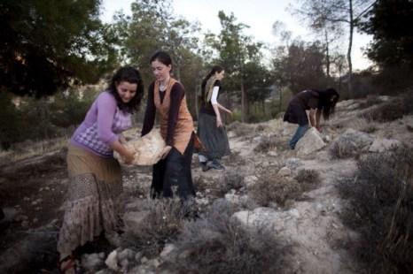 Фоторепортаж с места строительства  поста на границе между Израилем и Палестиной. Фото: Uriel Sinai/Getty Images