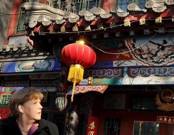 Ангела Меркель направилась в Китай с официальным визитом. Фото: MARK RALSTON/AFP/Getty Images
