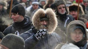 Мороз не остановил участников демонстраций в Москве. Фото: tagesschau.de