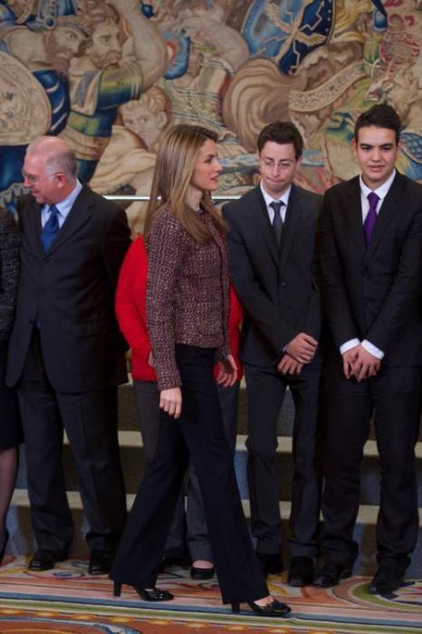 Принцесса Испании Летиция на приёме во дворце Zarzuela в Мадриде, 17 января 2013 года. Фото: Carlos Alvarez/Getty Images