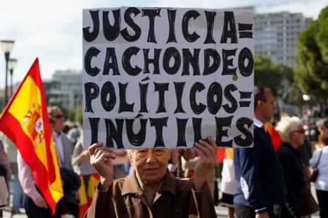 Массовые протесты прошли в Мадриде против освобождения террористов ЕТА. Фото: Pablo Blazquez Dominguez/Getty Images