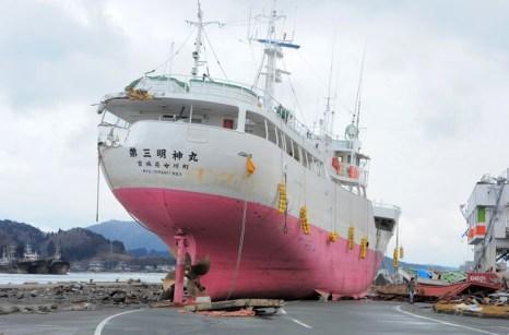 В Японии символ цунами 2011 года отправили на металлолом. Фото: KIM JAE-HWAN/AFP/Getty Images
