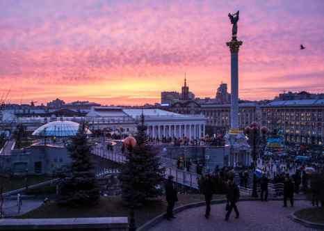 Украина. Киев. Красный закат. Фото: Brendan Hoffman/Getty Images