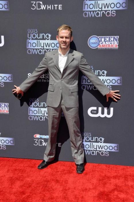 Актёр Доминик Монаган. Знаменитости прибыли на церемонию «Молодой Голливуд-2013». Фото: Frazer Harrison/Getty Images