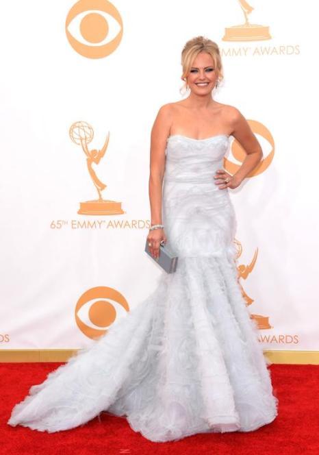 Актриса Малин Акерман прибыла на 65-ю ежегодную церемонию вручения наград «Эмми», которая состоялась в голливудском театре «Нокиа» 22 сентября 2013 года в Лос-Анджелесе, Калифорния (США). Фото: Jason Merritt/Getty Images