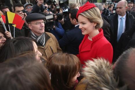 Король Филипп и его супруга королева Матильда прибыли 17 февраля 2014 года в Берлин на германо-бельгийскую конференцию. Фото: Sean Gallup/Getty Images