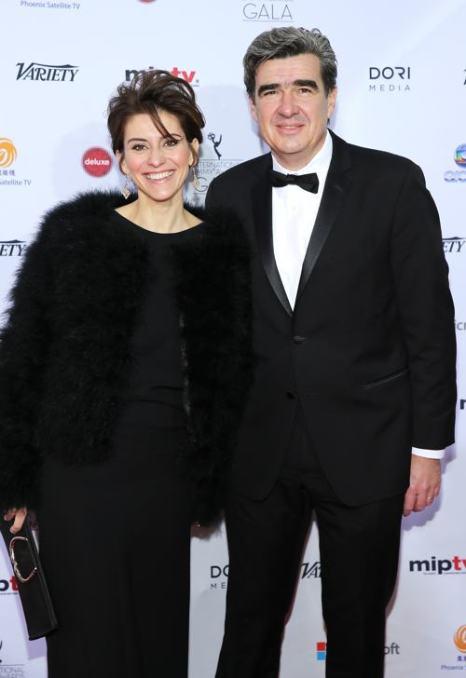 Тьерри Бизот и Гаэлль Шоле посетили вручение международной премии Эмми (International Emmy Awards) 25 ноября 2013 года в Нью-Йорке. Фото: Neilson Barnard/Getty Images