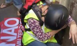 В первый день чемпионата мира в Сан-Паулу произошли столкновения протестующих с полицией