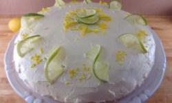 лимонный торт, торт