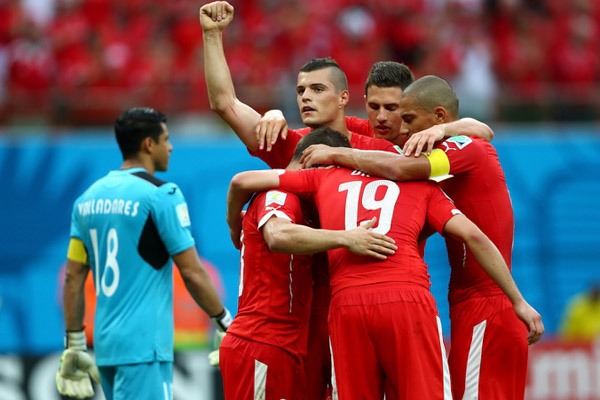 футбол, спорт, чемпионат мира в Бразилии, Гондурас, Швейцария, Шердан Шакири
