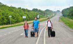 Москва, беженцы с Украины, сбор помощи