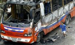 Индия, газ, взрыв, автобус