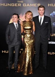 Actors Josh Hutcherson (left), Jennifer