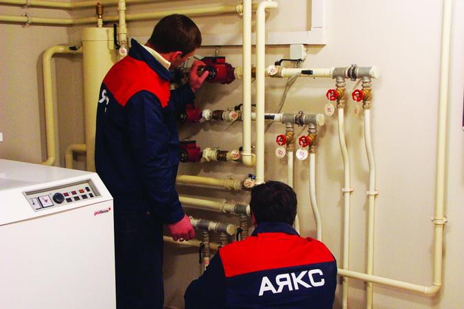 Прокладка инженерных систем. Пусканаладка. Фото: ayaks-termo.ru