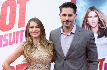 """HOLLYWOOD, CA - APRIL 30:  Actress Sofia Vergara (L) and actor Joe Manganiello attend the Premiere of New Line Cinema And Metro-Goldwyn-Mayer's """"Hot Pursuit"""" at TCL Chinese Theatre on April 30, 2015 in Hollywood, California.  (Photo by Frazer Harrison/Getty Images)"""