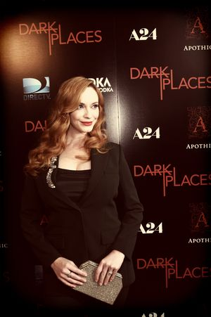 "LOS ANGELES, CA - JULY 21:  (EDITORS NOTE: This image was processed using digital filters) Actress Christina Hendricks attends the Premiere Of DIRECTV's ""Dark Places"" at Harmony Gold Theatre on July 21, 2015 in Los Angeles, California.  (Photo by Michael Buckner/Getty Images)"