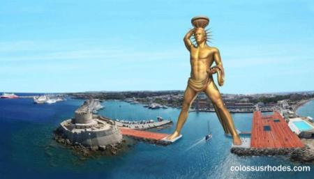 Планируемая реконструкция Колосса Родосского на греческом острове Родос.