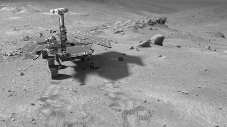 Искусственное изображение марсохода Spirit на Марсе. Фото: Bricktop/wikipedia.org/public domain