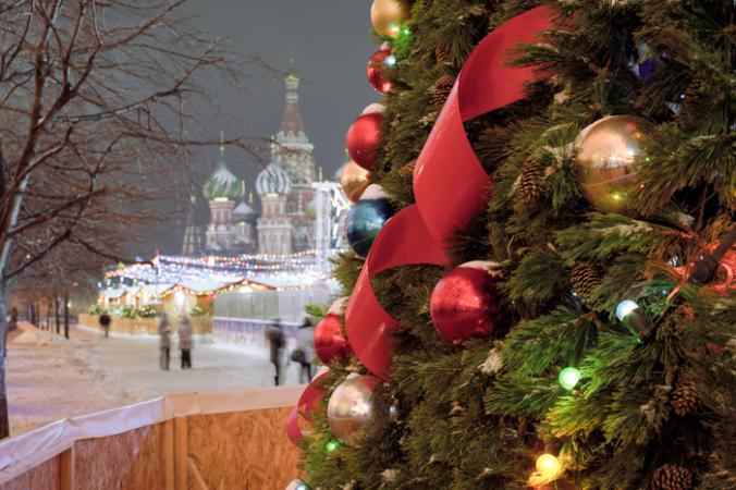Москва, Новый год, ели, ёлки, украшения