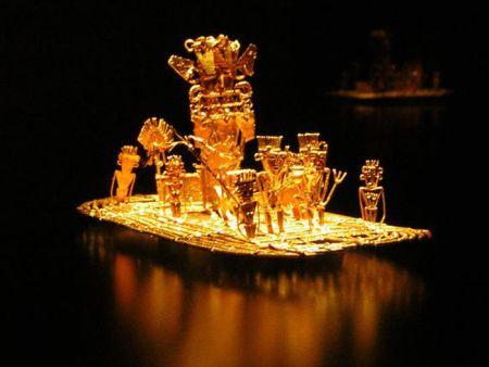 Muisca_raft_Legend_of_El_Dorado_Offerings_of_gold