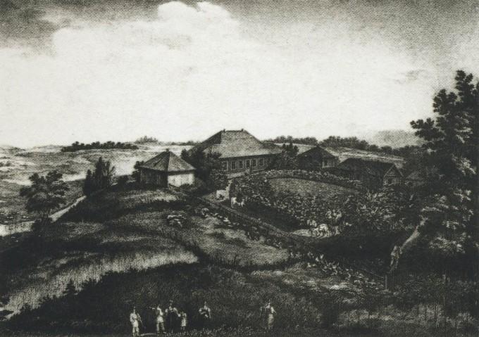 The_village_of_Mikhailovskoye._1837_Pskovskaya_oblast