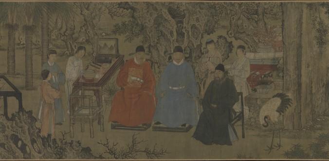 «Изящное собрание в абрикосовом саду», Се Хуань (1377–1452), династия Мин (1368–1644), ок. 1437 г. тушь и краски по шёлку. Фото: Courtesy of The Metropolitan Museum of Art