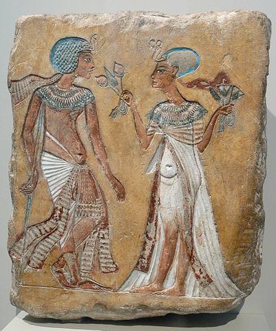 Меритатон с мужем Сменхкарой. Фото: AndreasPraefcke/wikipedia.org/ public domain