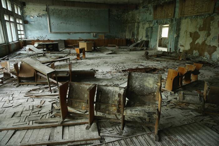 Заброшенная школа в Припяти. Фото: Sean Gallup/Getty Images