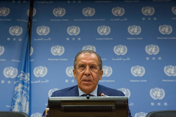 Сергей Лавров. Фото: Andrew Burton/Getty Images