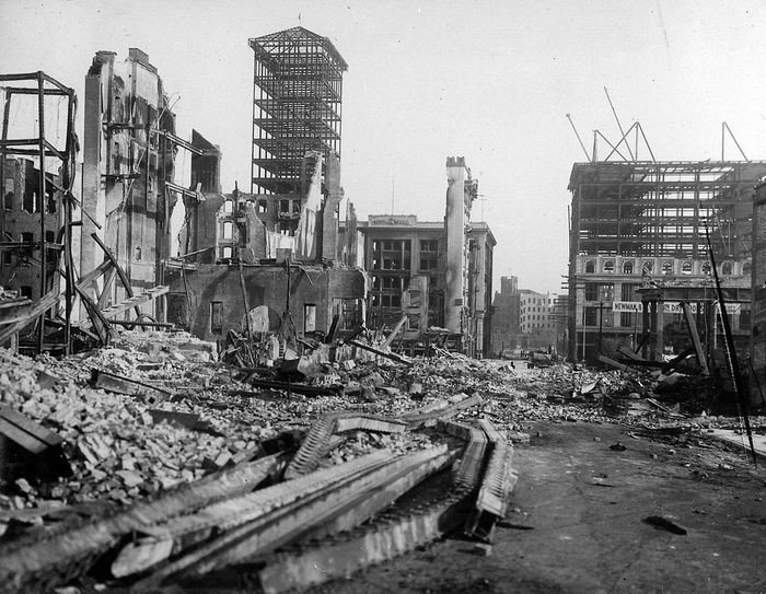 Сан-Франциско после землетрясения. Фото: Chadwick/wikipedia.org/public domain