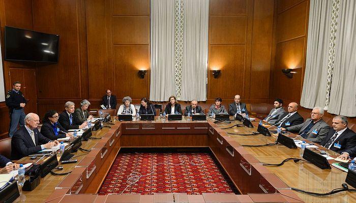 Переговоры в Женеве по сирийскому вопросу. Фото: FABRICE COFFRINI/AFP/Getty Images